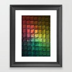Rainbow grid Framed Art Print