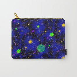Wrinkle Planet Pattern Carry-All Pouch