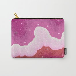 Lesbian Pride Flag Galaxy Carry-All Pouch