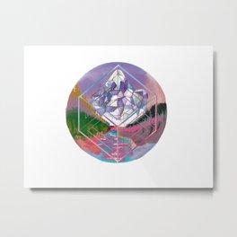 Crystal Mountain Metal Print