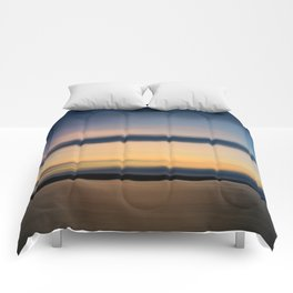 sunset make happiness Comforters