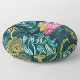 Monsoon Bloom_Dark Floor Pillow