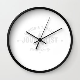 Geniune Trusted Journalist Journalism Writer Author Gift Wall Clock