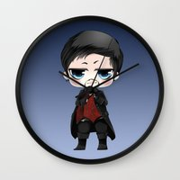 ouat Wall Clocks featuring OUAT - Chibi Killian Jones by Yorlenisama