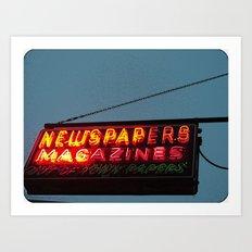 Vintage Neon Newstand Sign ~ Chicago Architecture Art Print