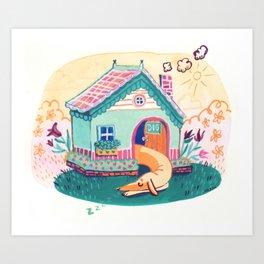 Creamy dreams the day away. Art Print