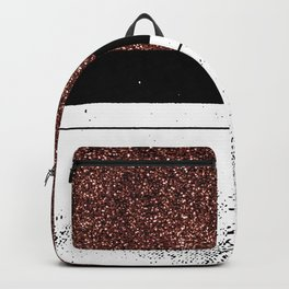Pink Glitter Nude One Line Backpack