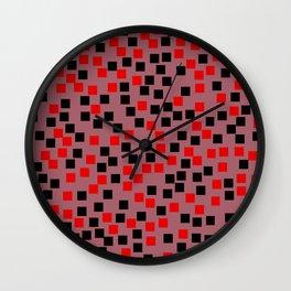 Abstract colorful mosaic pattern II Wall Clock