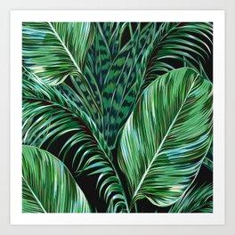 Green and Black Kunstdrucke