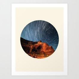 Long Exposure Of Spinning Stars Art Print