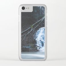 Emerging waterfall after the flood Clear iPhone Case