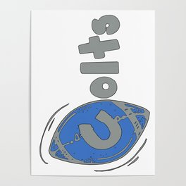 Colts Fancy Football Font Poster