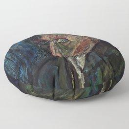 Vincent van Gogh (oil on canvas) Floor Pillow