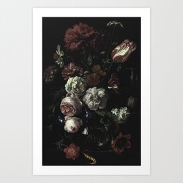 Arms Full Of Flowers II [antique painting remixed] Art Print