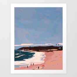 California Beach Art Print