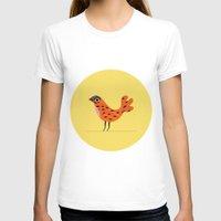 scandinavian T-shirts featuring Bird print George, digital illustration, animal print, pastel, scandinavian poster by LokoKoko