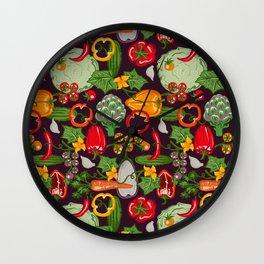 Vegetable Farm Pattern Wall Clock