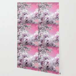 Flowers Pink & Lavender Wallpaper