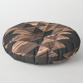 Urban Tribal Pattern No.11 - Aztec - Wood Floor Pillow