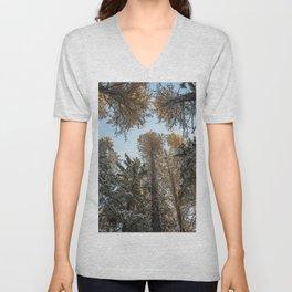 sky trees Unisex V-Neck