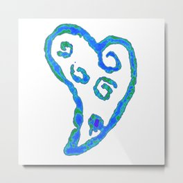 Blue Jade Love Metal Print