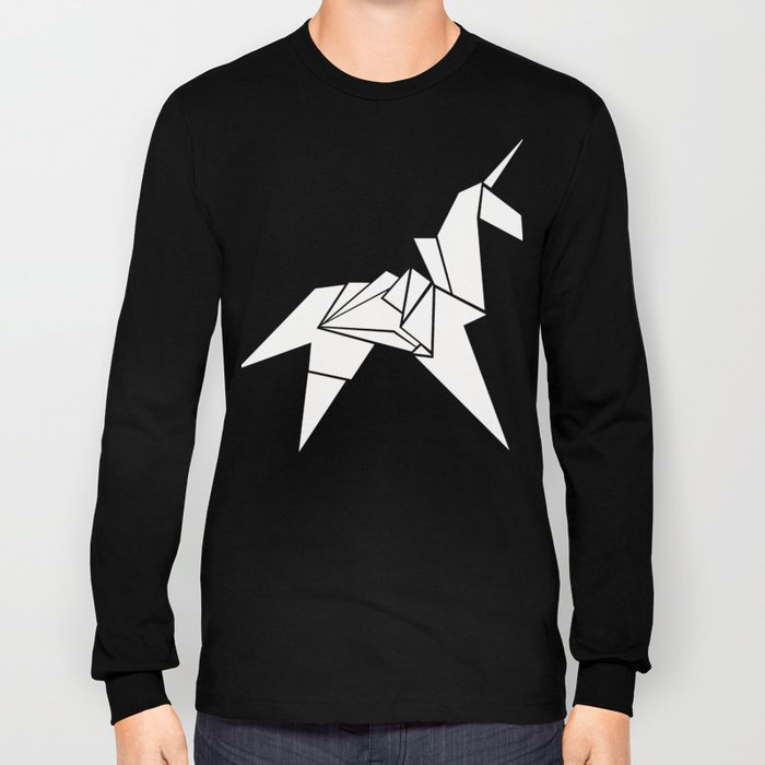 Unicorn Origami Long Sleeve T-shirt