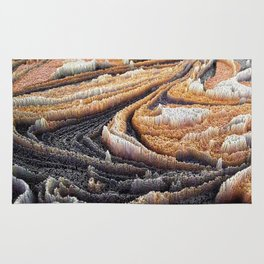 Abstract Topography - Coffee Rug