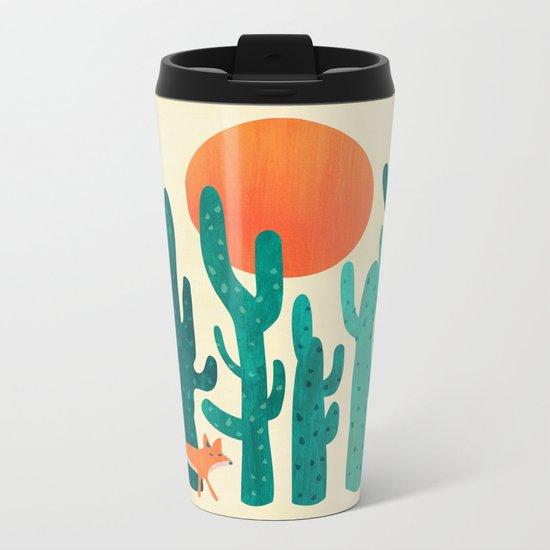 Desert fox Metal Travel Mug