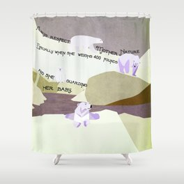 Respect Mother Nature 3 Shower Curtain