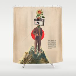 InstaMemory Shower Curtain