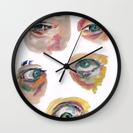 Watching Eyes Wall Clock