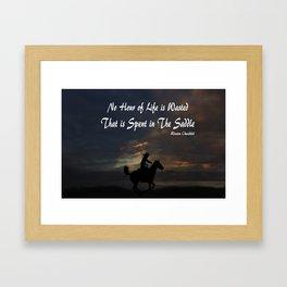 Cowgirl Sunset Framed Art Print