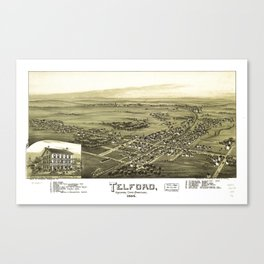 Aerial View of Telford, Pennsylvania (1894) Canvas Print