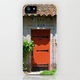 Lourdes University-  Portiuncula  Chapel Door with Clematis iPhone Case
