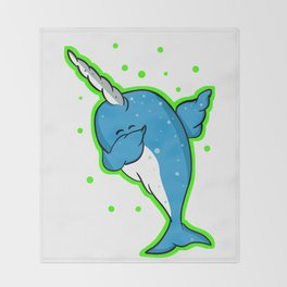 Narwhale Dabbing Throw Blanket