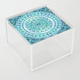 Aqua Mosaic Mandala Acrylic Box