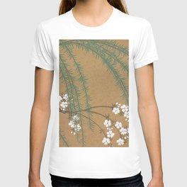 Kamisaka Sekka - Blossoms from Momoyogusa T-shirt