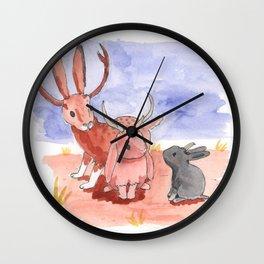 Pygmy Jackalope Wall Clock