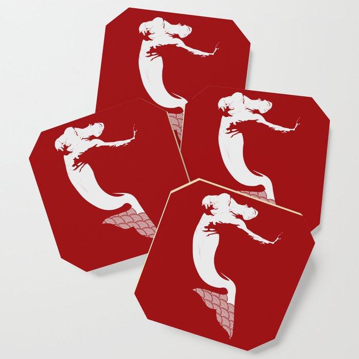 Merman - Red & White - Mermay 2019 Coaster