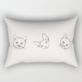 Kittens illustration line drawing Rectangular Pillow