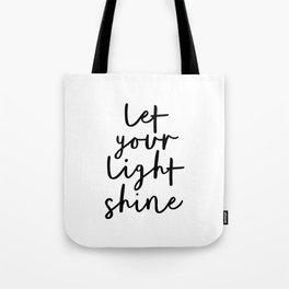 VIDA Tote Bag - let the light shine by VIDA kTlJlCF