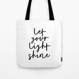 VIDA Tote Bag - let the light shine by VIDA
