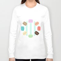 macarons Long Sleeve T-shirts featuring Macarons by ASHEFACE DESIGNS