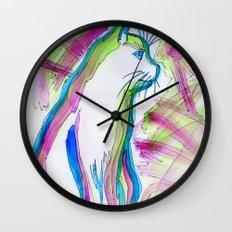 Cat of Color Wall Clock