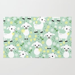Baby goats Rug