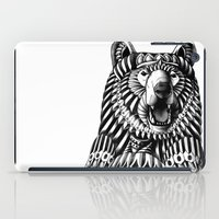 ornate iPad Cases featuring Ornate Grizzly Bear by BIOWORKZ