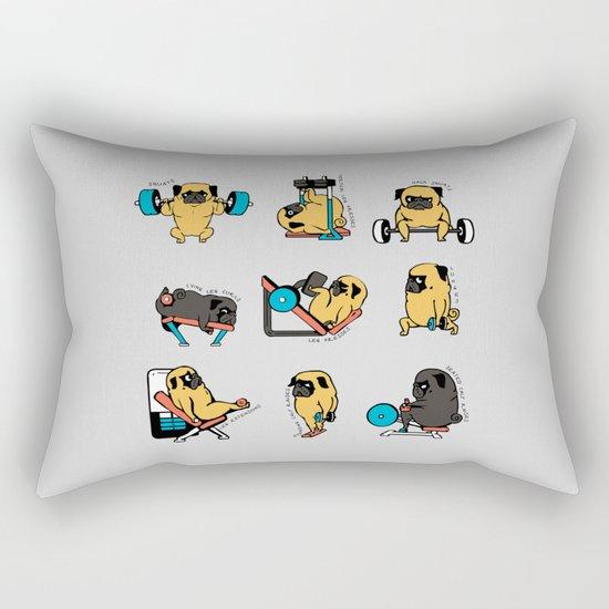 Leg Day with The Pug Rectangular Pillow