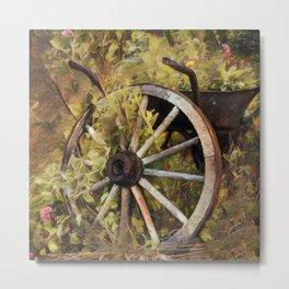 Wagon Wheel, Country Metal Print