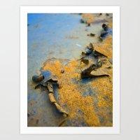 Rusty Surface Art Print