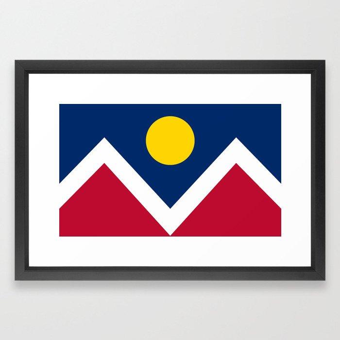 Denver, Colorado city flag - Authentic High Quality Framed Art Print ...